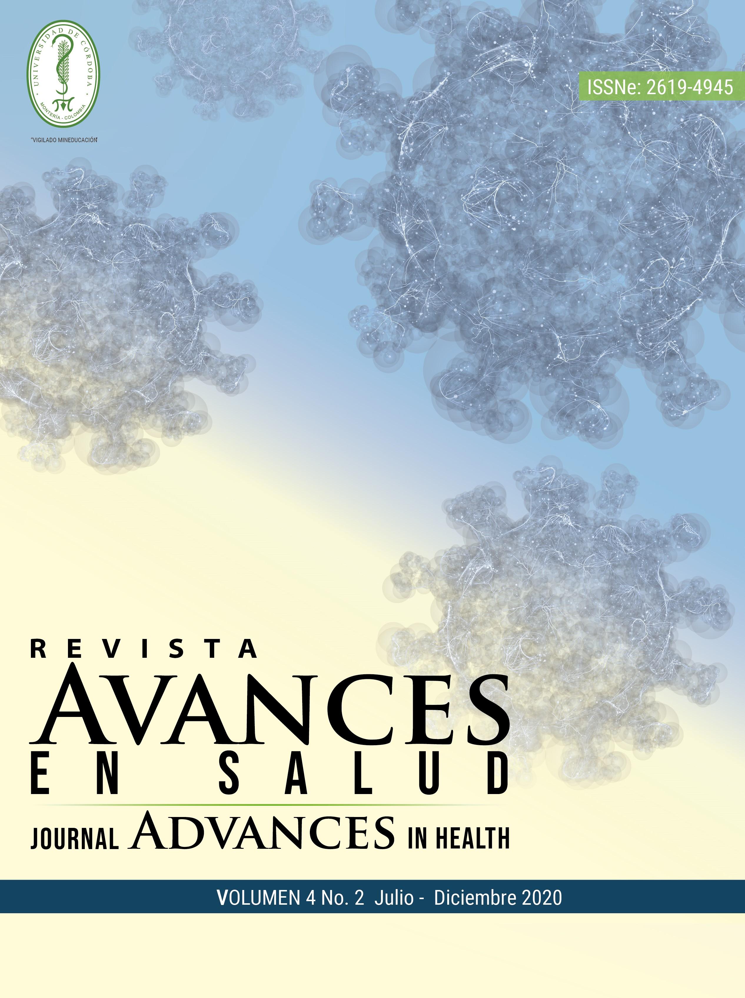 Portada de la Revista avances en salud , Volumen 4 No.2 Julio - Diciembre 2020